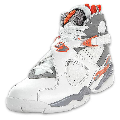 Air Jordan 8 Retro White/Orange Blaze Stealth Final Product ...