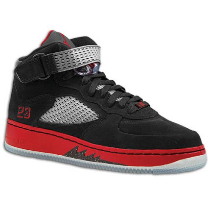 Air Jordan Fusion Force V Black/Varsity Red/White  on Eastbay.com