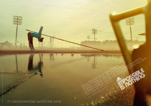 "Adidas ""Impossible is Nothing"" Olympic Print Ads"