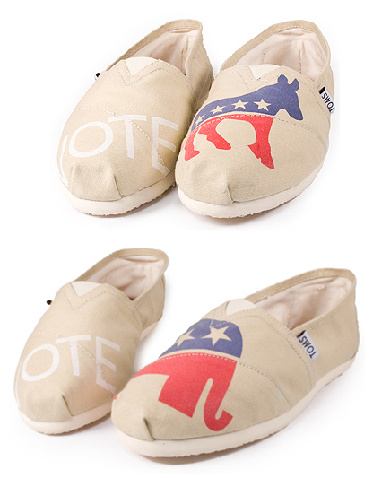 TOM's Shoes Election VOTE Slip-Ons