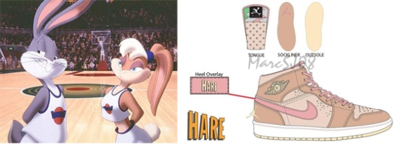 Air Jordan 1 Mid Womens Hare