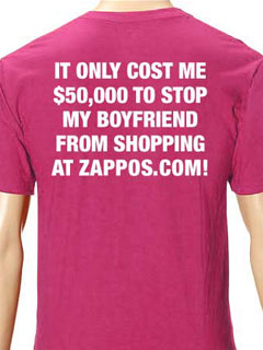 Stop my boyfriend from shopping at Zappos
