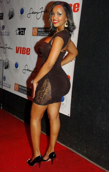 Angel Luv showing off her... shoes at Terrance Js NY Birthday Bash