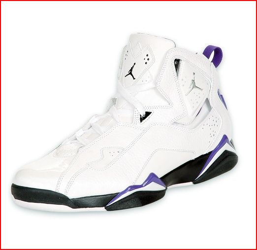 Air Jordan Ture Flight in white and purple