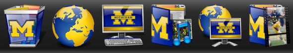 University of Michigan Desktop - Icons