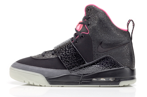 Nike Air Yeezy in black and silver with pink