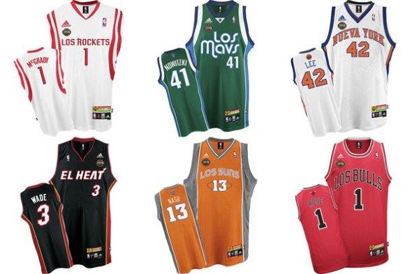 Latin NBA Jersey's