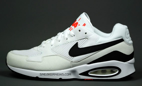 Nike Air Max ST in white with black and red hilights