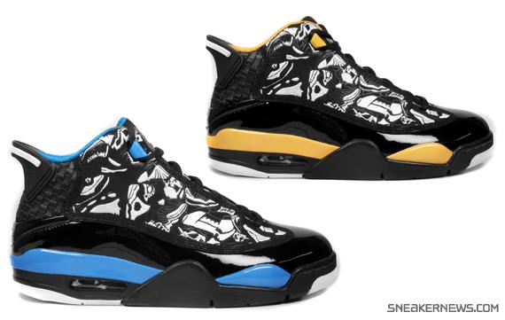 Jordan Dub Zero in Black Laser Blue and Black Taxi
