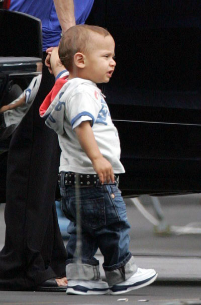 Marc Anthony & Jennifer Lopez's Son Max Out and About