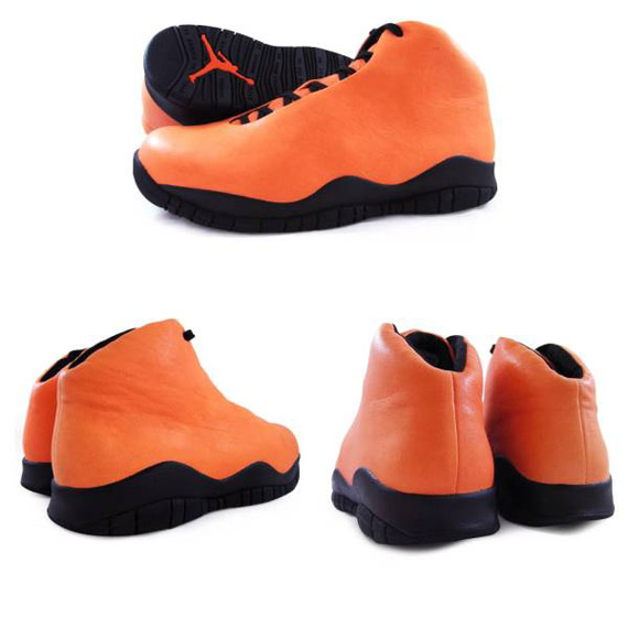 Air Jordan X - One-Piece - 2006 Promo Samples Safety Orange and Navy