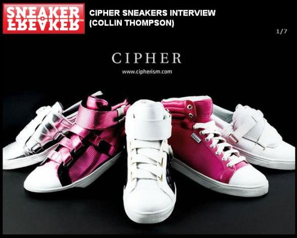 Cipher LookBook on Sneaker Freaker