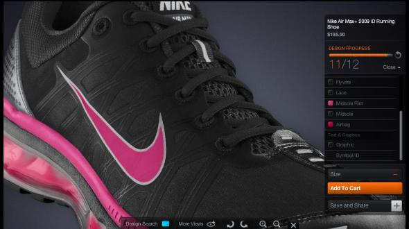 Nike Air Max 2009 iD Dark Mountain PiNK
