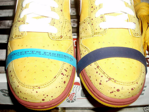 Concepts x Nike SB Dunk Low - Yellow Lobster Sample