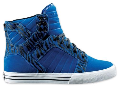 Supra Muska Sky Top Skate Shoes - blue suede
