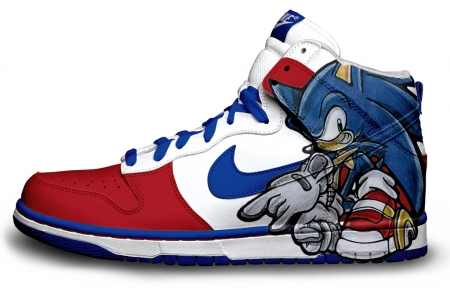 Custom Sonic dunks