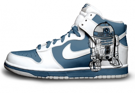 r2d2 custom dunks