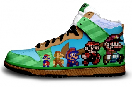 Super Mario Custom Dunks