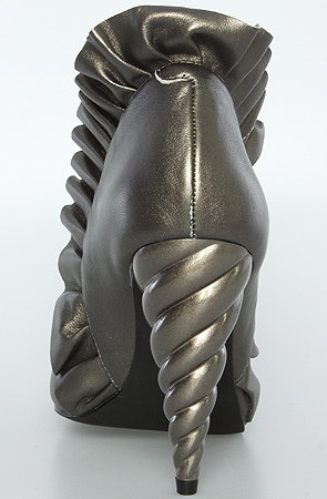 Jeffrey Campbell Shoes-The Michelle Heel in Pewter backSHOT