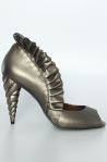 Jeffrey Campbell Shoes-The Michelle Heel in Pewter