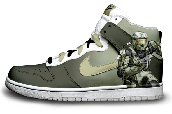 masterchief - Custom Dunks by Daniel Reese